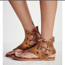 2204468a2c6 Women Sandals Shoes Gladiator Thong Flops Lace Up Flip Flat Size Strappy  Toe New