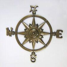 "Aluminum Rose Compass 23"" Brass Finish ~ Windrose Nautical wall decor ~ Nautical"