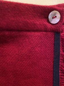 Papo d`Anjo (Oscar de la Renta) girl 100% WOOL pleated Red skirt Size 8Y