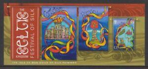 Isle of Man - 2014, Festival of Silk, Guild Silk Painter sheet - MNH - SG MS1943