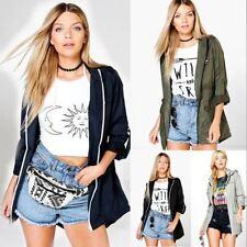 Hip Length Autumn Raincoats for Women