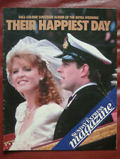 SUNDAY EXPRESS 1986 ROYAL WEDDING SPECIAL ANDREW  FERGIE GREAT COND RETRO ADVERT
