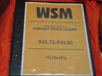 Kubota SVL75 compact track loader skid steer Workshop Service Manual binder