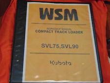 New Listingkubota Svl75 Compact Track Loader Skid Repair Workshop Service Manual Binder