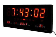 Orologio Digitale Da Parete Muro A Led Datario Sveglia Temperatura Jh3615 sus