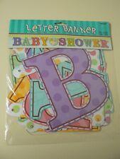 Amscan Baby Shower Letter Banner 6 Foot Long Polka Dot Duck