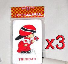 3 pack Trinidad Flag Boy Magnets Fridge/Car/Locker UV protected NEW Magnetic