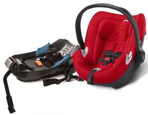 Cybex Aton Q Infant Baby Car Seat & Base w/ Load Leg Hot & Spicy NEW