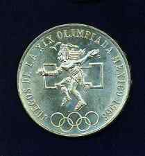 MEXICO ESTADOS UNIDOS  1968  25 PESOS OLYMPICS, TYPE I , BRILLIANT UNCIRCULATED