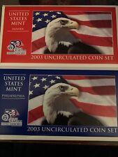 2003 US MINT SET - 20 COIN W/COA - CLAD UNC - P and D