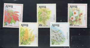 NEVIS STAMPS 1988 CHRISTMAS FLOWERS SG 512/16 MINT NEVER HINGED