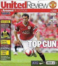 Football Programme>MAN UTD v ARSENAL Sept 2006
