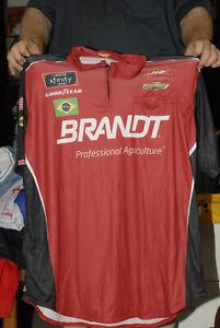 JR MOTORCPORTS NASCAR JERSEY NEW SIMPSON XL BRAZIL BRASIL FLAG POCKET RED