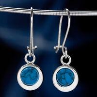 Türkis Silber 925 Ohrringe Damen Schmuck Sterlingsilber H0556