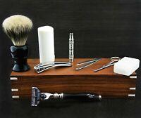 Men's Luxury Shaving Kit Vintage Style Personal Grooming Set for Men Shavers