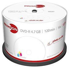 50 PRIMEON Dvd-r Stampabili 4.7gb 120 minuti 16x Print Inkjet Cake -r 2761206