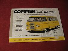 1963 Commer Caravan Bus Truck Sales Sheet Brochure Booklet Catalog Book Old