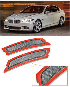 For 12-16 BMW F10 5-Series M-Sport   Crystal SMOKE Side Bumper Reflector Lights