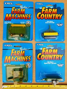 John Deere Farm Country Ertl 1995 1:64 Die-cast ( 4-Package Set ) NEW & SEALED