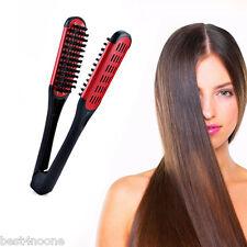 Professional Tourmaline Carmine Hair Straightening Brush for women's Girl's Hair