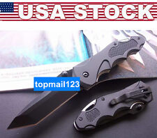 1X Stainless Steel Folding Knife Rescue Saber Pocket For Camping Hunting