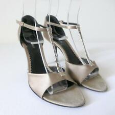 GIORGIO ARMANI Women's Shoes Made in Italy  Satin High Heel Sandals Size 35.5