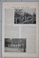 1900 Imprimé Rites De Passage Sud Afrique Militaire Funérailles Lord Roberts