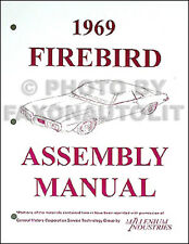 1969 Pontiac Firebird and Trans Am Factory Assembly Manual 69 Sprint 350 400
