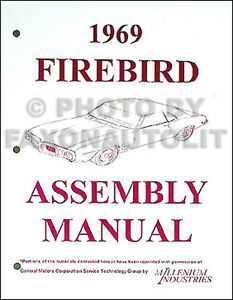 1969 PONTIAC FIREBIRD Assembly Manual Rebuild