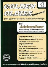 Akkordeon Noten : Golden Oldies 4  mittelschwer  m. 2. Stimme (ad. lib.)