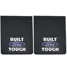 "2 PIECE BUILT TOUGH DUALLY 18.5"" x 24"" HEAVY DURABLE MUD FLAPS GUARD for FORD"