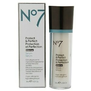 Boots No.7 Protect & Perfect Intense serum 1 FL OZ Results just 4 weeks, Fresh