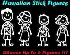 Hawaiian Stick Figure Family Decal Car Window Sticker Free Bonus Laptop