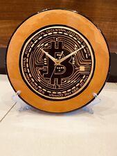 """Bitcoin Clock 12"""" Crypto"""