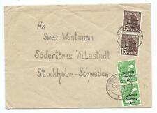 GERMANY/SOV:ZON: Cover to Sweden 1949.