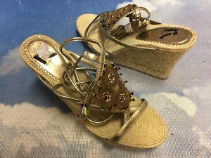 Report Gladator Calf Strap Espadrille Wedge Platform Sandal Women Size 9, 10