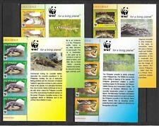 Philippines 2011 Mi.No. 4500-3 Philippinen reptiles wwf CROCODILE 4v x 4 MNH**