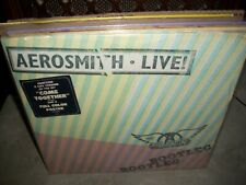 AEROSMITH live bootleg ( rock ) 3lp STICKER - POSTER - PROMO -