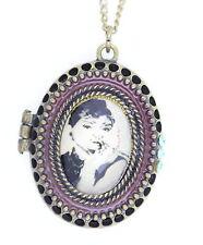 Vintage Retro Estilo Bronce Audrey Hepburn Colgante Collar