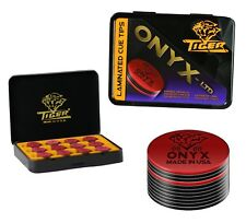Tiger Onyx Laminated Pool Cue Tips Tiger QTY 12 - FREE SHIPPING 002071