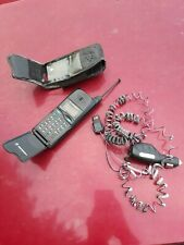 New listing Vintage Motorola Cell Phone Microtac/650 E* Swf2143D Battery Case Charger Tested