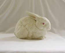 Vintage Dated DEPT 56 Pink-Eyed Albino White Bisque Bunny Rabbit~MINT