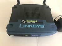 Linksys WAP54G-V.2 WIRELESS -G ACCESS POINT w/AC ADAPTER