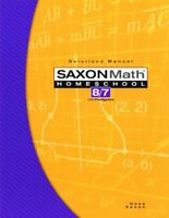 Saxon Math 8/7 Solutions Manual With Pre-Algebra by Stephen Hake