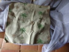 "Set of 6 Palm Tree Themed Dinner Napkins 17"" Square."