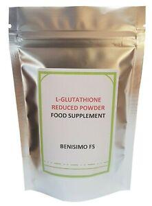 Glutathione Reduced Powder, L-Glutathione-25,50,100,200g -UK Seller