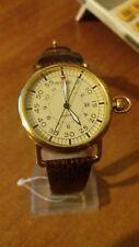 orologio uomo Animoo con datario bracciale pelle stile retro' cassa color oro