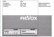 Revox  Bedienungsanleitung user manual owners manual  für A 50 / A 76