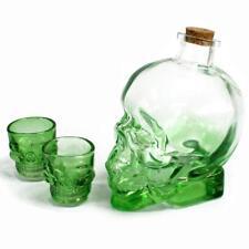 Set DI DEMONE Bere Bottiglia Vetro Shot Teschio Testa Verde Decanter Set Vino Whiskey