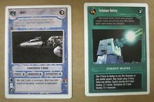 Star Wars CCG 4 Rare cards Premiere White Border, Mint